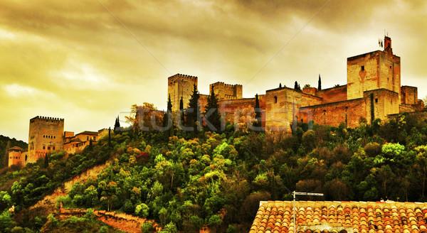 LA Alhambra Spanyolország kilátás tájkép utazás Stock fotó © nito