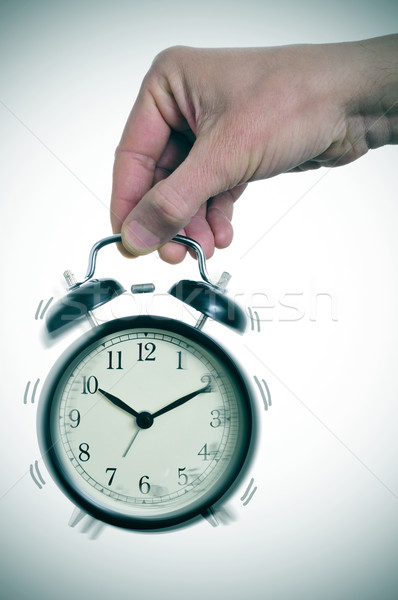 mechanical alarm clock ringing Stock photo © nito