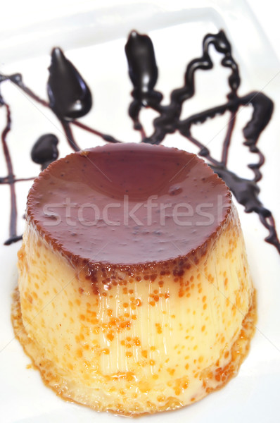 Stock photo: creme caramel