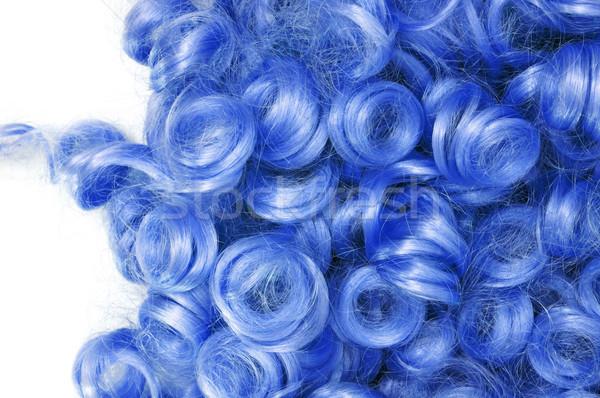 синий парик моде весело Сток-фото © nito