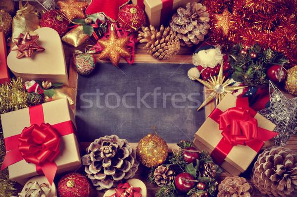 Cadeaux Noël ornements Photo stock © nito