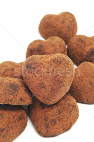 chocolate heart-shaped bonbons Stock photo © nito