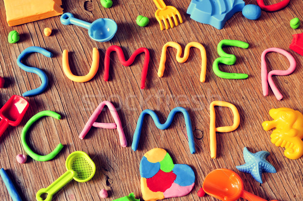 text summer camp made from modelling clay Stock photo © nito