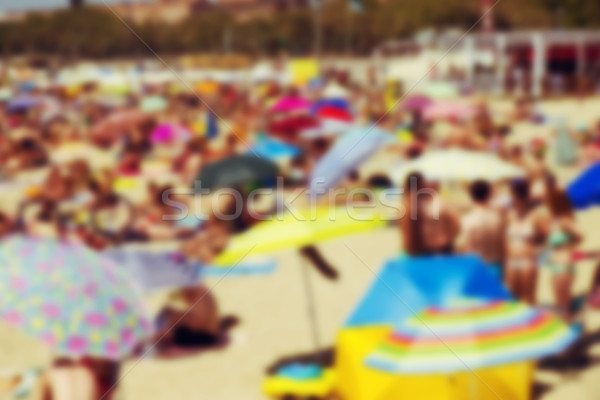 defocused blur background of a packed beach Stock photo © nito