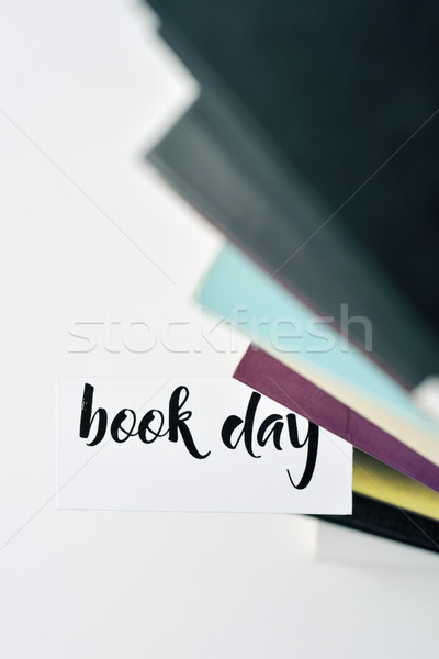books and text book day Stock photo © nito