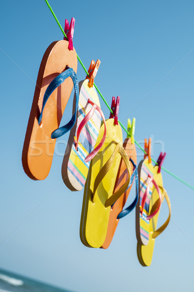 flip-flops hanging on a clothes line Stock photo © nito