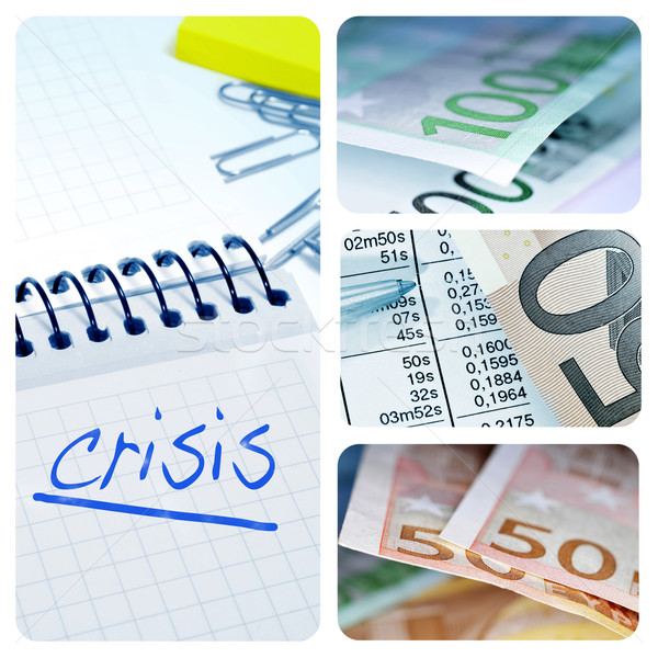 european crisis collage Stock photo © nito