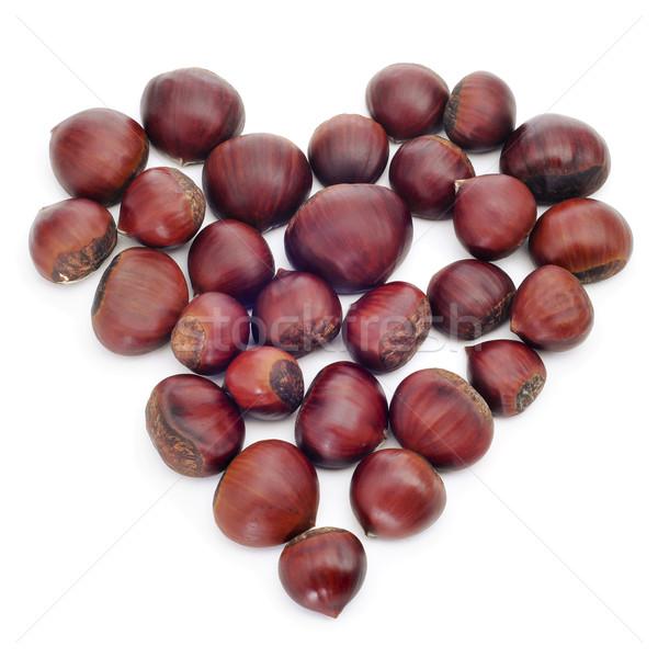 chestnut heart Stock photo © nito