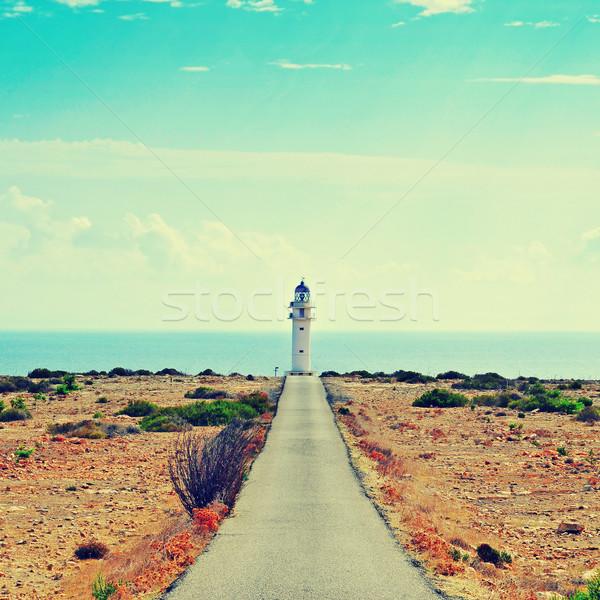 Messze szigetek Spanyolország kilátás jelzőtűz retro Stock fotó © nito