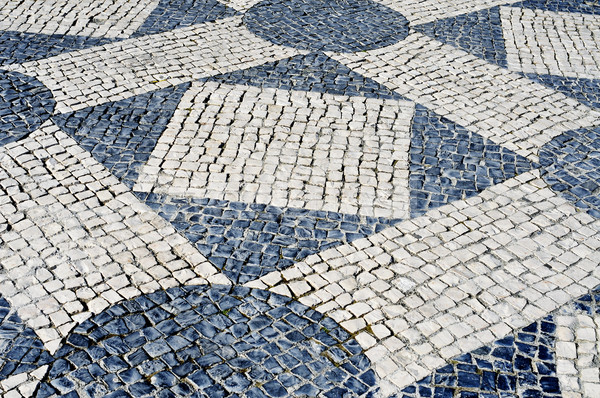 portuguese pavement in Lisbon, Portugal Stock photo © nito