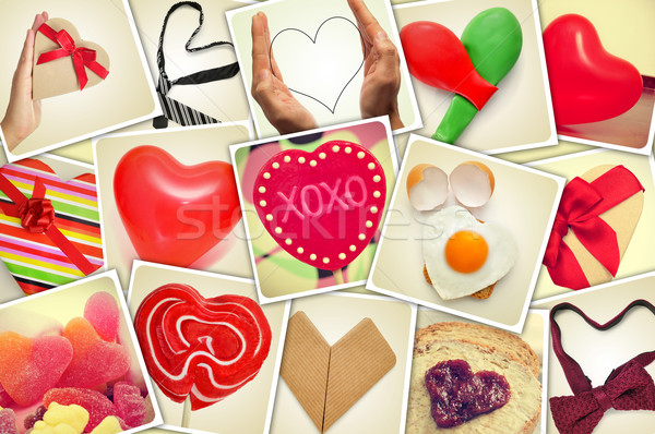 collage of snapshots of hearts and heart-shaped things shot by m Stock photo © nito