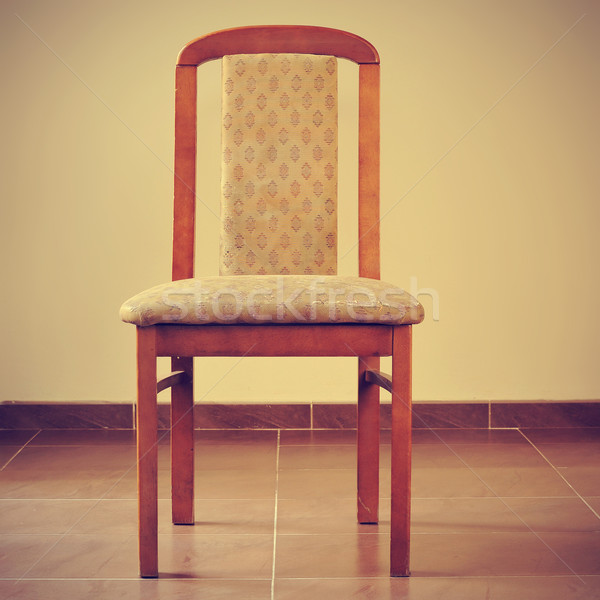 old and stained chair with a retro filter effect Stock photo © nito