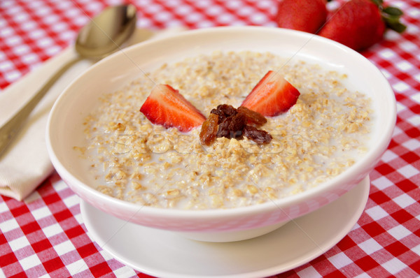bowl with porridge Stock photo © nito