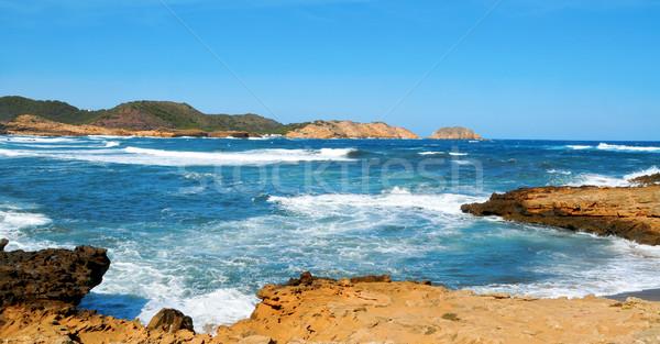 Binimela coast in Menorca, Balearic Islands, Spain Stock photo © nito