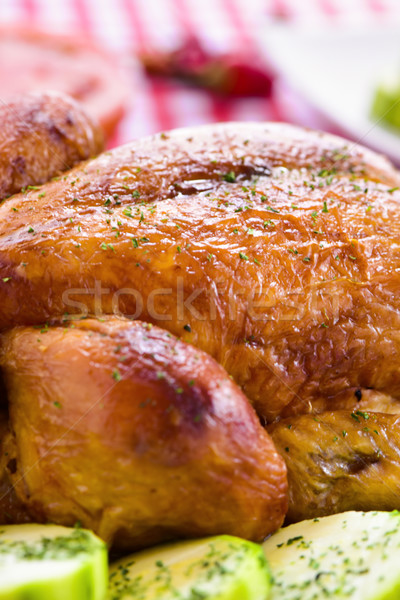 Stock photo: roast turkey