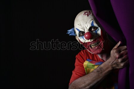 scary evil clown with a gun Stock photo © nito