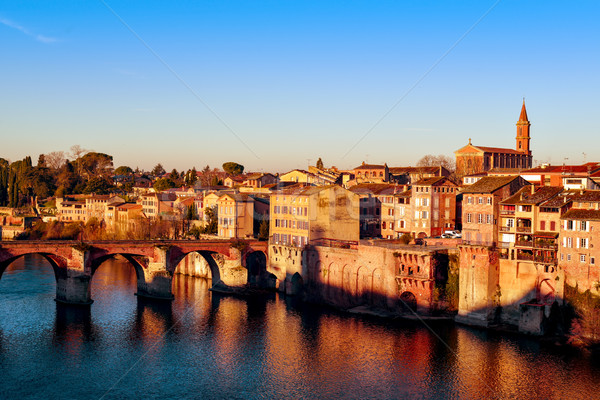 Albi, in France, and Tarn River Stock photo © nito