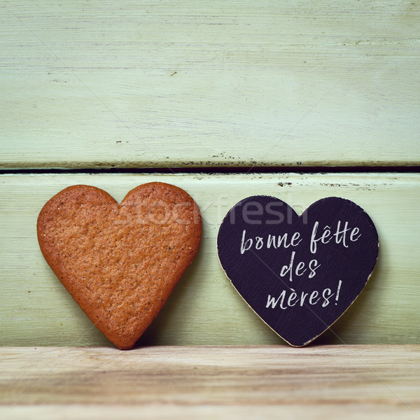 Stock photo: bonne fette des meres, happy mothers day in french