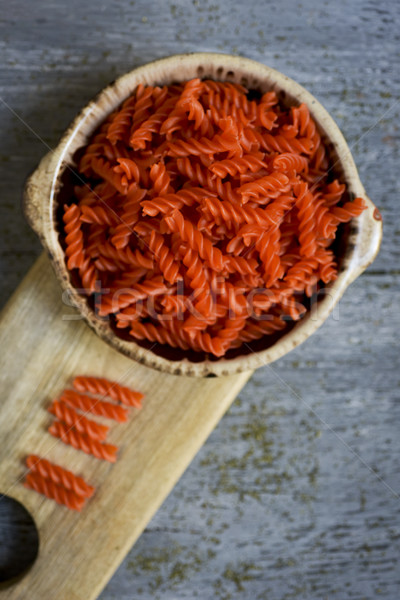 uncooked red lentil fusilli Stock photo © nito