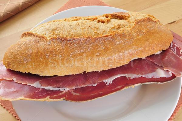 Espanhol serrano presunto sanduíche comida restaurante Foto stock © nito