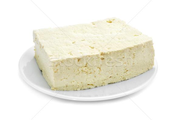 豆腐 プレート 白 食品 健康 背景 ストックフォト © nito