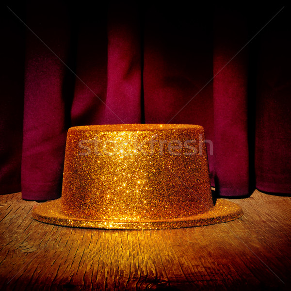 golden top hat on a stage Stock photo © nito