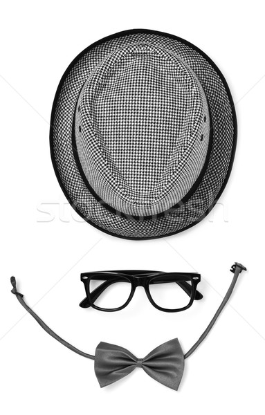 hat, eyeglasses and bow tie Stock photo © nito