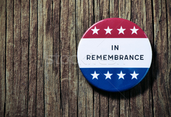 pin button with the text in remembrance Stock photo © nito