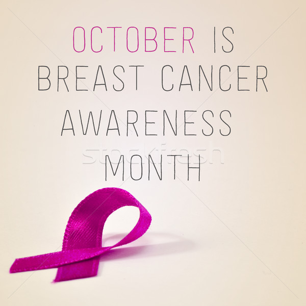 october is breast cancer awareness month Stock photo © nito