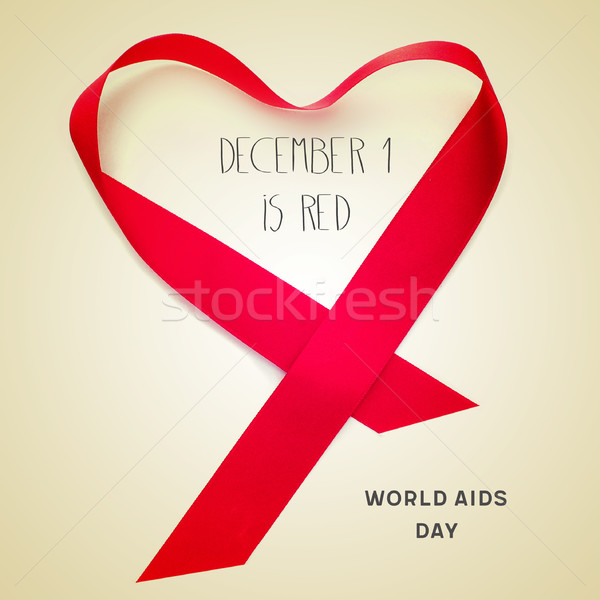 text december 1 is red, world aids day Stock photo © nito