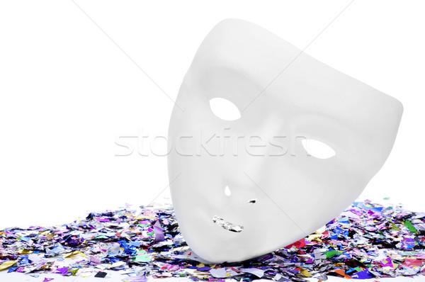 mask and confetti Stock photo © nito