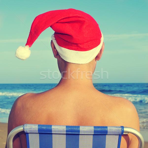 christmas at the beach Stock photo © nito