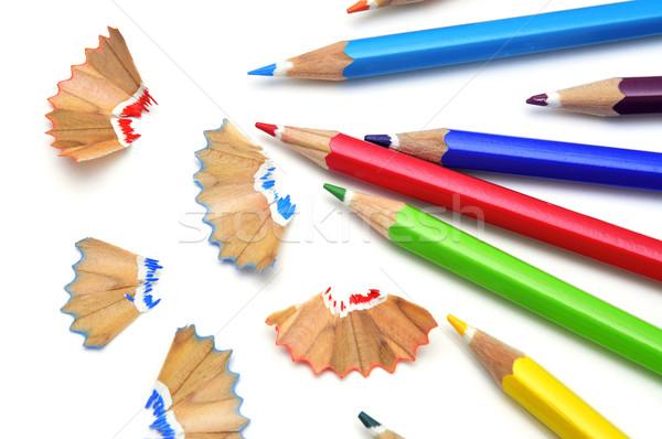 sharpening colored pencils Stock photo © nito