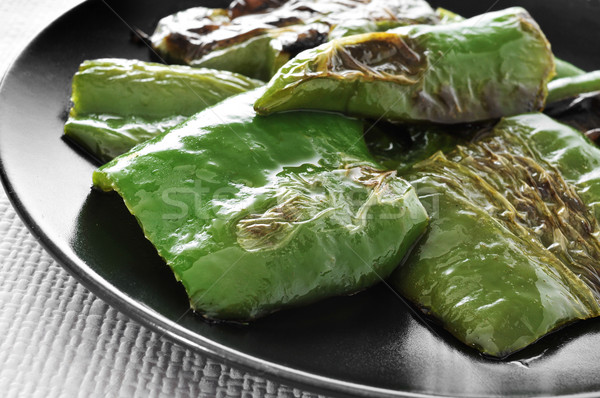 stir-fried green peppers Stock photo © nito