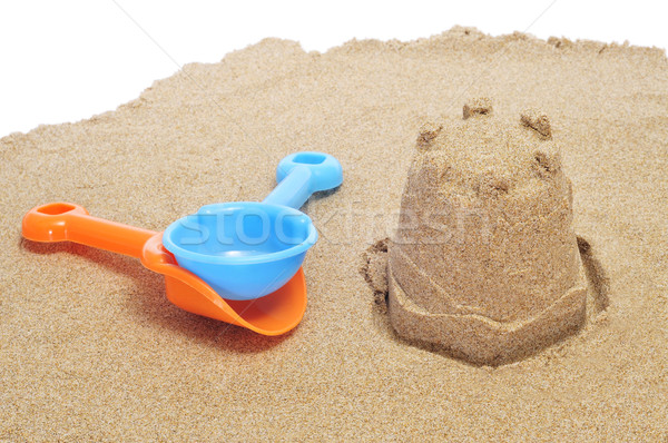 Sandcastle plage sable enfants enfant design Photo stock © nito