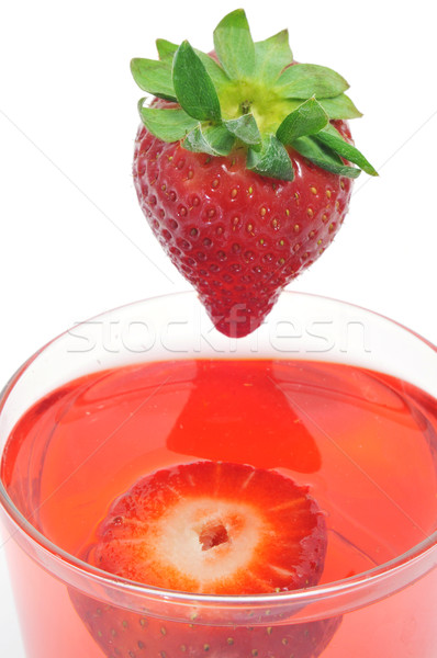 cocktail with strawberries Stock photo © nito