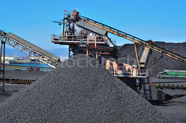 Carvão indústria trabalhar metal preto Foto stock © nito