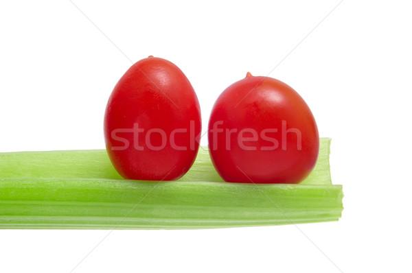 Koktélparadicsom zeller egészség zöld piac saláta Stock fotó © nito