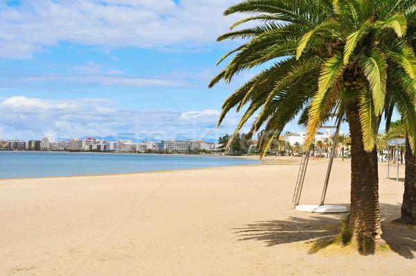 Platja Nova beach in Roses, Spain Stock photo © nito
