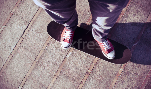 young man on a skate board Stock photo © nito