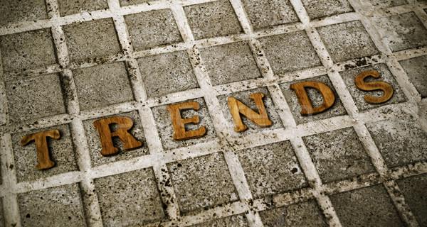 Houten brieven woord trends mode straat Stockfoto © nito