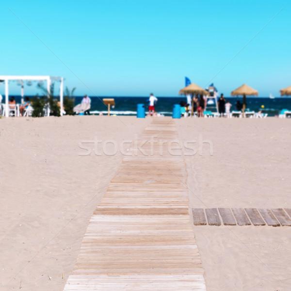 La plaży Walencja Hiszpania morze Śródziemne Zdjęcia stock © nito