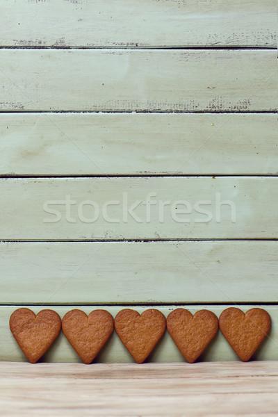 Cookie line blady zielone rustykalny Zdjęcia stock © nito