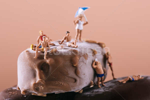 miniature people in swimsuit on an ice cream bar Stock photo © nito