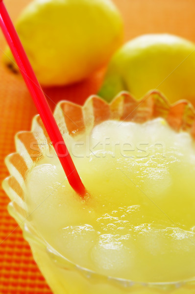 spanish granizado de limon, a semi frozen dessert made with lemo Stock photo © nito