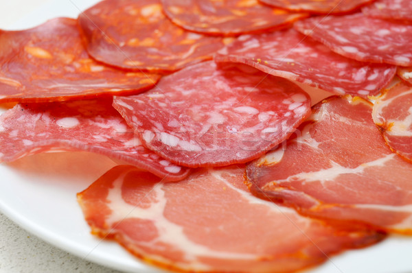 Stock photo: assorted embutidos, spanish cold cuts