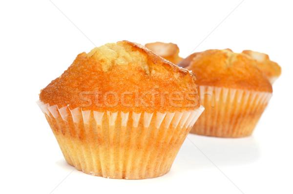 Eigengemaakt typisch spaans muffins witte huis Stockfoto © nito