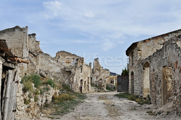Poble Vell de Corbera d'Ebre in Spain Stock photo © nito