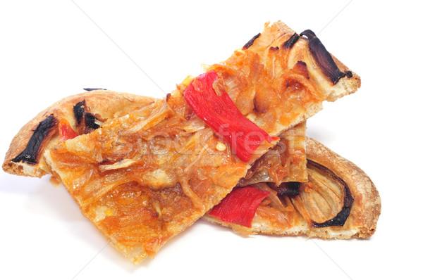 coca de recapte, typical catalan dish Stock photo © nito