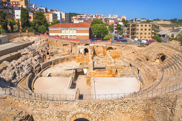 Roman Amphitheater in Tarragona, Spain Stock photo © nito
